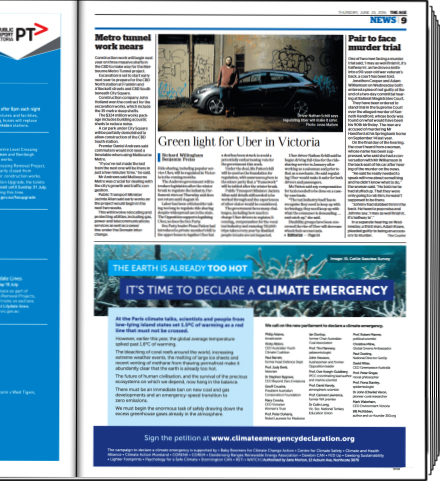 The Age ad on page 9 - 23 June 2016